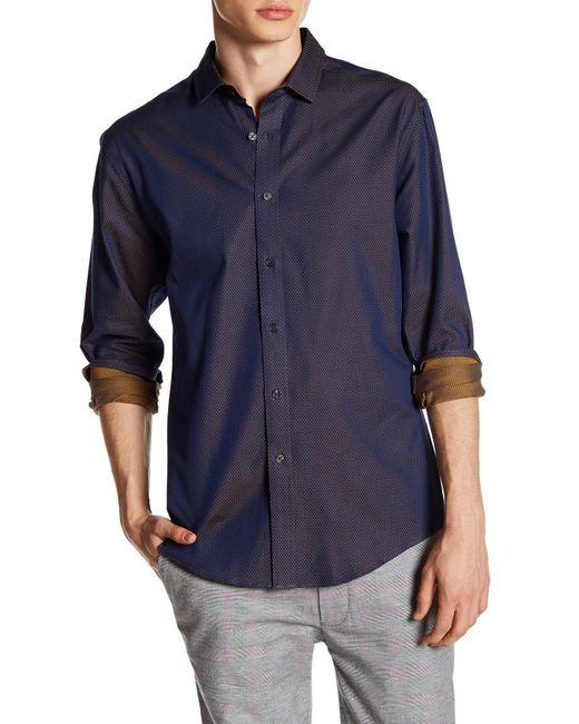 Vince Camuto | Blue Slim Fit Print Sport Shirt for Men | Lyst