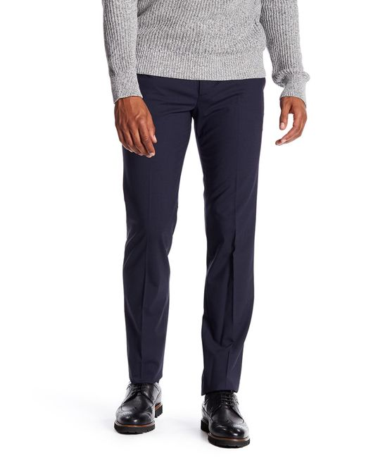 Theory - Blue Trim Fit Stretch Wool Marlo Pants for Men - Lyst