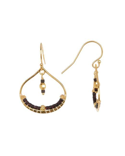 Chan Luu - Black Bead Detail Open Drop Earrings - Lyst