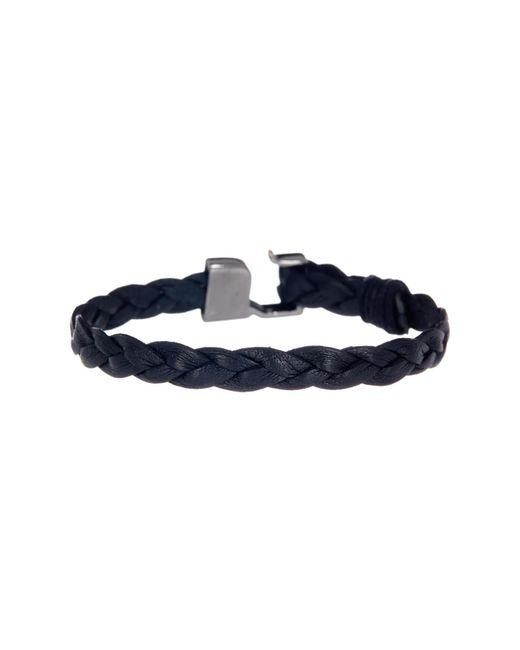 Link Up - Black Braided Leather Hook Bracelet for Men - Lyst