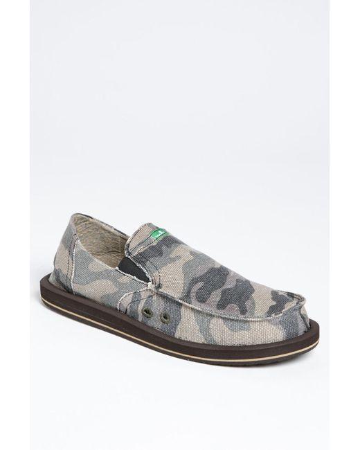 Sanuk - Gray Pick Pocket Slip-on Shoe for Men - Lyst