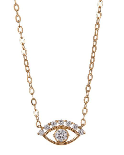 Nadri - Metallic 18k Gold Plated Brass Cz Eye Pendant Necklace - Lyst