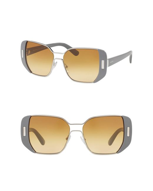 Prada - Multicolor 54mm Rectangle Sunglasses - Lyst