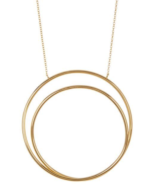 Argento Vivo - Metallic 18k Gold Plated Sterling Silver All Around The World Pendant Necklace - Lyst