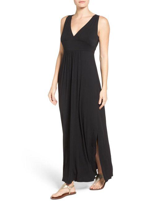 Caslon - Black Knit Maxi Dress - Lyst