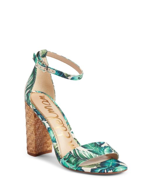 Sam Edelman - Multicolor Yaro Ankle Strap Block Heel Sandals - Lyst