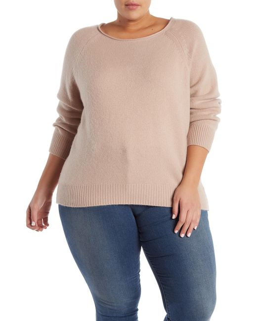 6305223dc4a Naked Cashmere - Natural Leila Raglan Cashmere Sweater (plus Size) - Lyst  ...