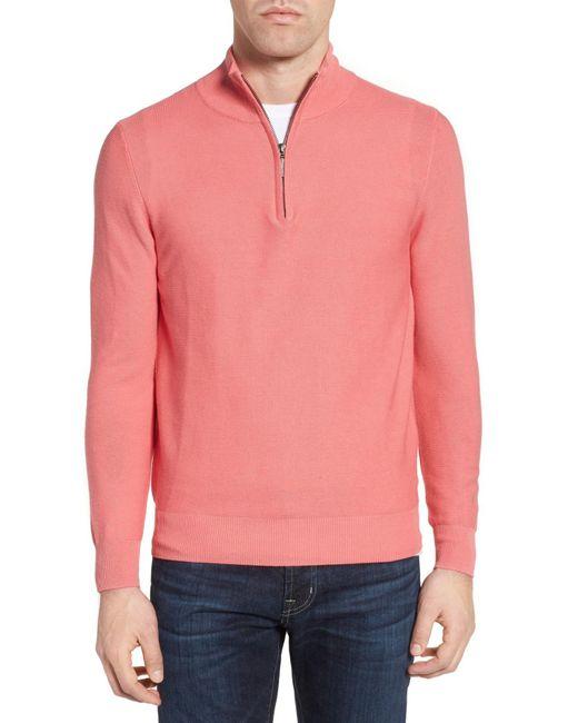 Jeremy Argyle Nyc | Pink Quarter Zip Sweater for Men | Lyst