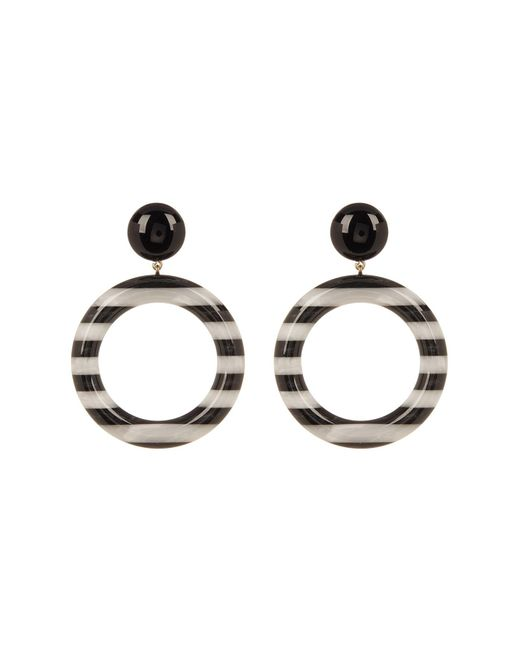 Marc Jacobs - Multicolor Large Striped Front Facing Hoop Earrings - Lyst