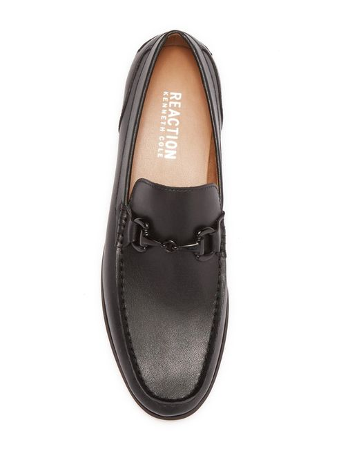 4b89100bf9bf ... Kenneth Cole Reaction - Black Crespo Leather Loafer for Men - Lyst ...