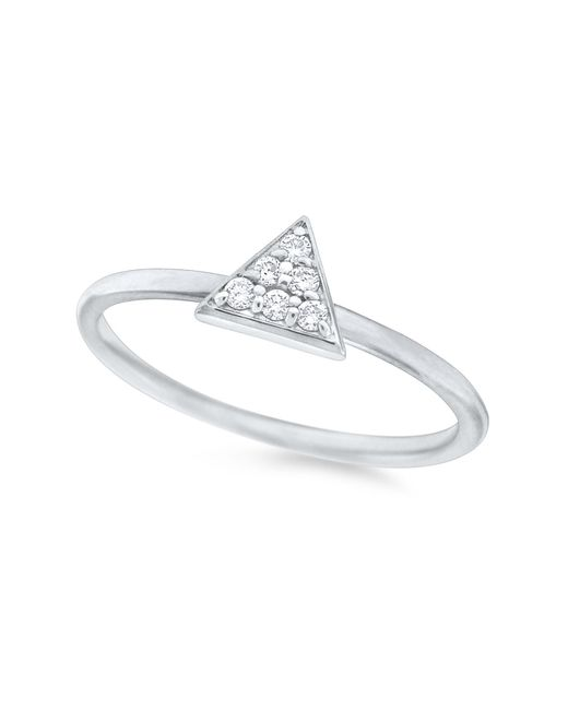 KC Designs | 14k White Gold Diamond Triangle Stack Ring | Lyst