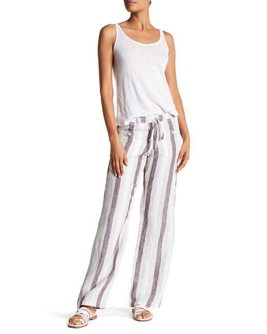 Allen Allen | Multicolor Linen Stripe 4-pocket Pants | Lyst