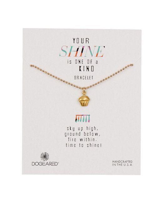 Dogeared - Metallic 14k Gold Vermeil Your Shine Cupcake Bracelet - Lyst