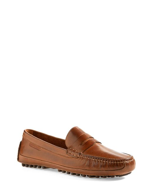 Cole Haan - Brown 'grant Canoe' Penny Loafer for Men - Lyst