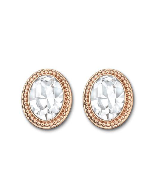 Swarovski   Metallic Arrive Crystal Button Earrings   Lyst