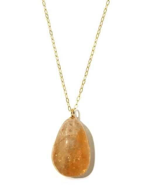 Charlene K | Metallic 14k Gold Vermeil Citrine Pendant Necklace | Lyst