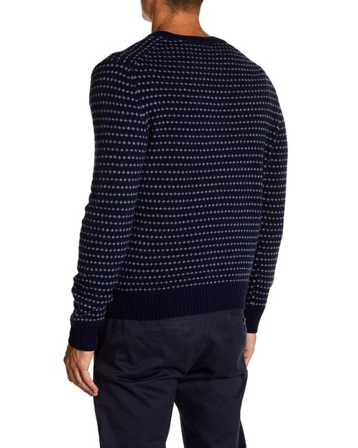 Brooks brothers Wool Blend Fair Isle V-neck Sweater in Blue for ...