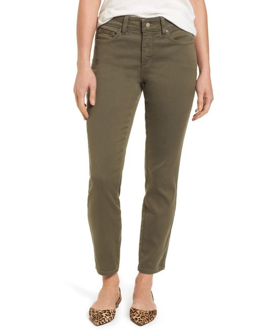 NYDJ - Green Ami Colored Stretch Skinny Jeans - Lyst