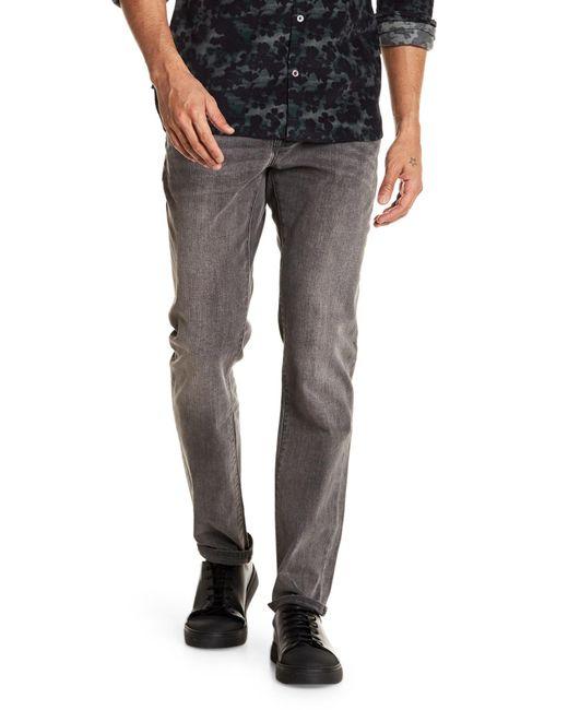 John Varvatos - Gray Bowery Slim Straight Jean for Men - Lyst