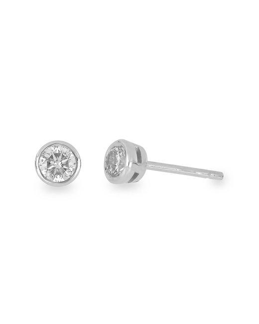 Bony Levy - 14k White Gold Bezel Set Stud Earrings - 0.75 Ctw - Lyst