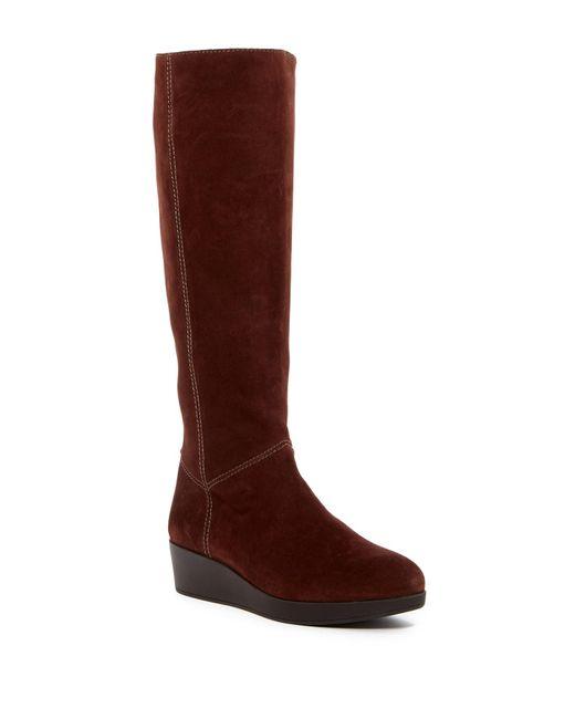Johnston & Murphy | Brown Darcy Tall Waterproof Wedge Boot | Lyst