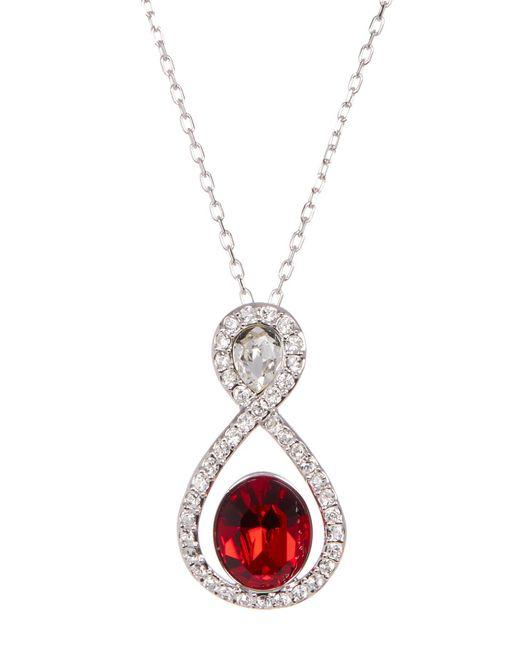 Swarovski   Red Miles Multi-color Bezel Set Stone Infinity Loop Pave Pendant Necklace   Lyst