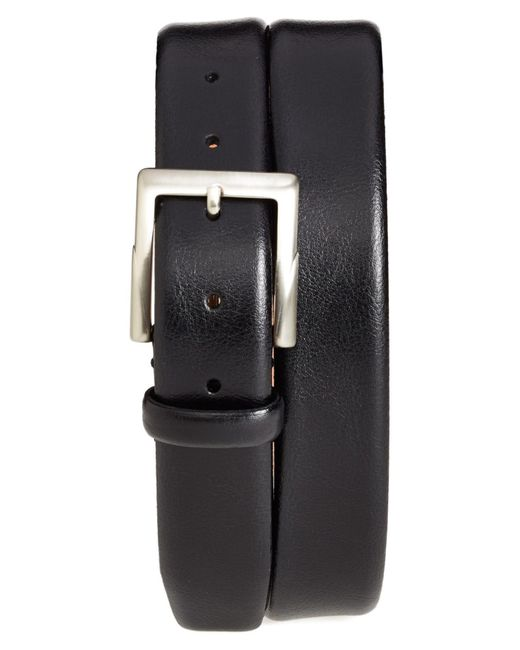 Trafalgar - Black 'rafferty' Leather Belt for Men - Lyst