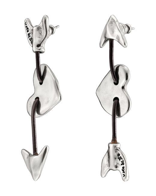Uno De 50 - Metallic Iman & Bowine Arrow & Heart Stud Earrings - Lyst