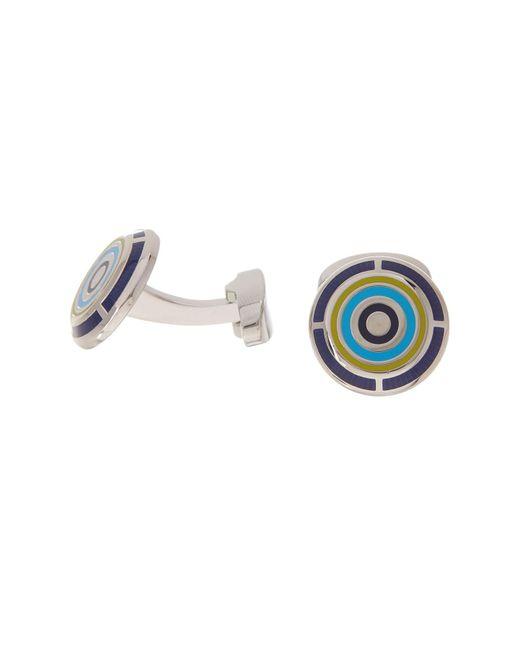 Duchamp - Blue Bullseye Enamel Cuff Links for Men - Lyst