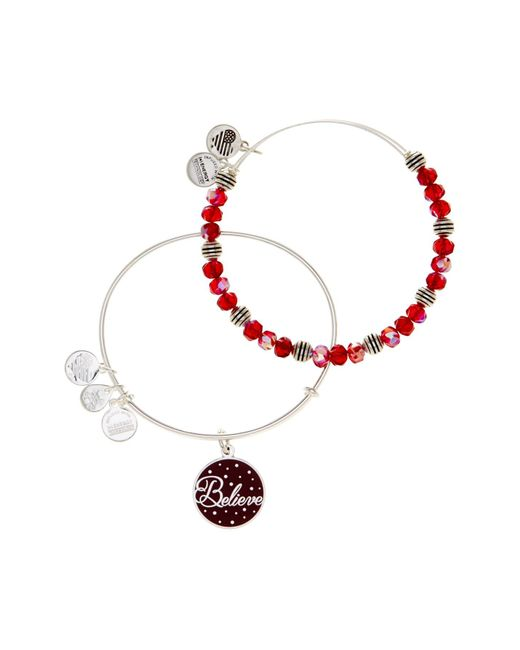 ALEX AND ANI | Metallic Believe Bangle Bracelets - 2-piece Set | Lyst
