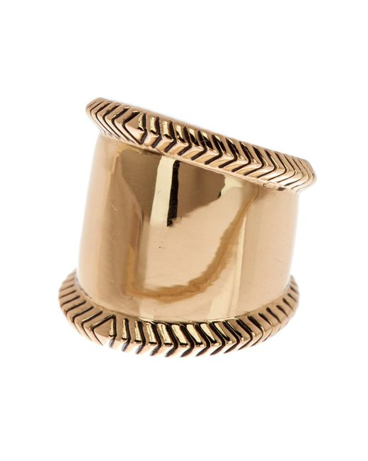 House of Harlow 1960 - Metallic Tambo Textured Ring - Size 6 - Lyst