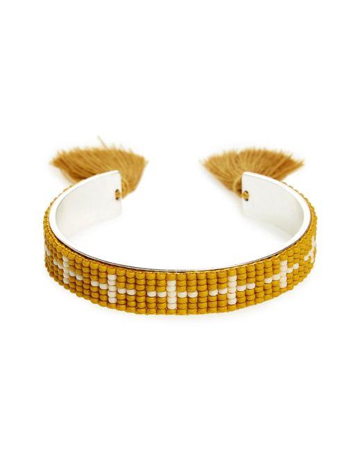 Madewell | Metallic Beaded Cuff Bracelet | Lyst