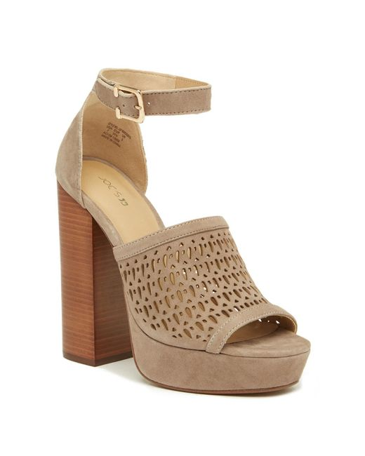 Joe's Jeans - Brown Lorne Perforated Platform Sandal - Lyst