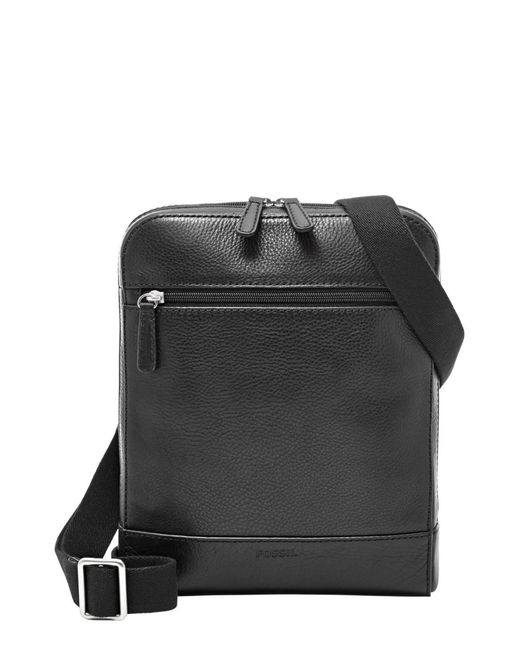 Fossil - Black Rory Leather Courier Bag for Men - Lyst