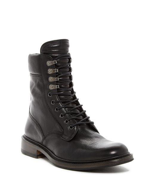 Rag & Bone Black Spencer Leather Military Boot for men