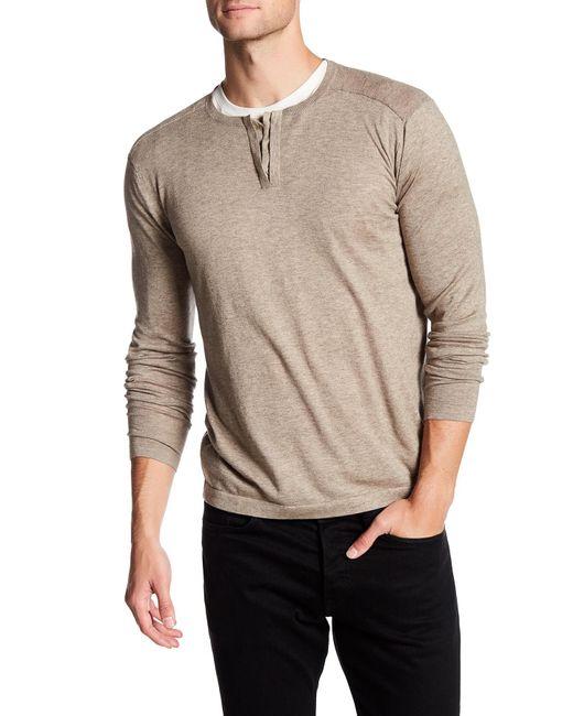 Autumn Cashmere | Natural Hidden Button Up Henley Shirt for Men | Lyst