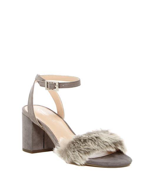 Charles David | Multicolor Kandy Faux Fur Block Heel Pump | Lyst