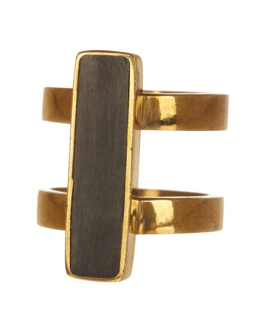Soko - Metallic Horn Bar Double Band Ring - Lyst