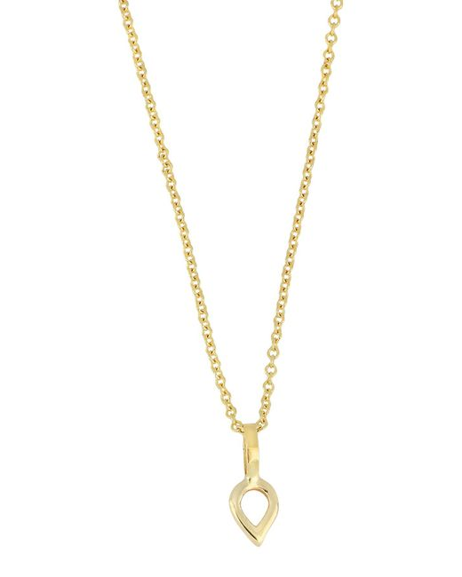 Bony Levy - Metallic 14k Yellow Gold Open Pear Pendant Necklace - Lyst