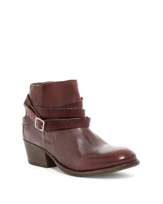 H by Hudson | Brown Horrigan Belt Wrapped Bootie | Lyst