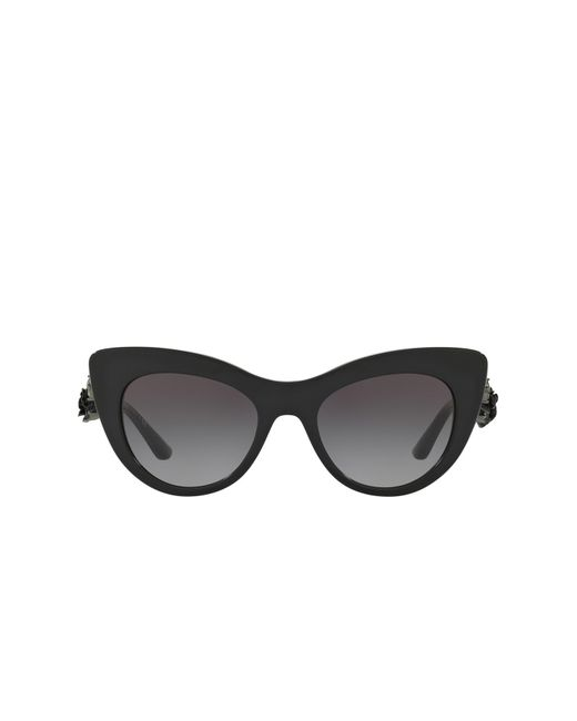 c9765d80505 Lyst - Dolce   Gabbana 50mm Rose Cat Eye Sunglasses in Black - Save 39%