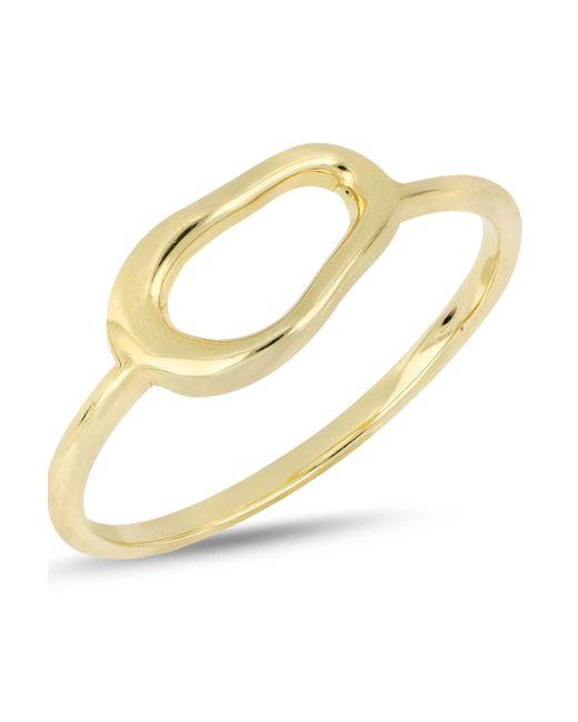 Bony Levy - Metallic 14k Yellow Gold Organic Open Circle Accent Ring - Lyst