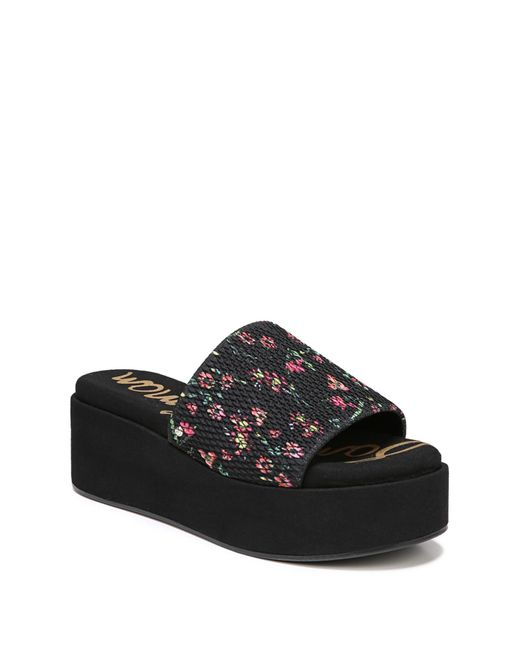 Sam Edelman - Black Wendi Platform Slide Sandal (women) - Lyst