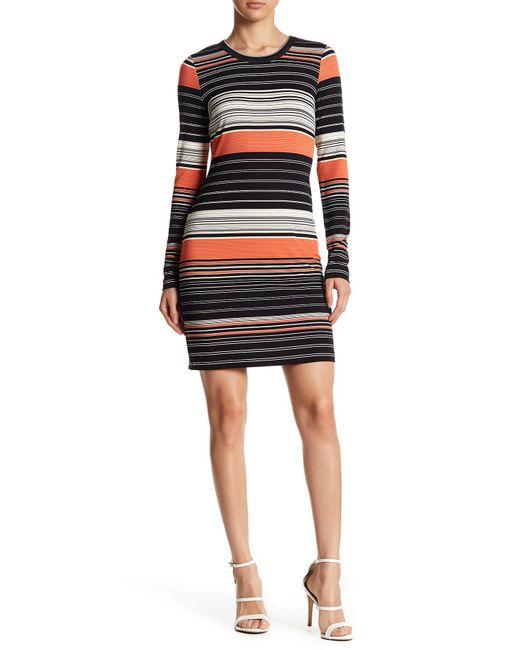 Karen Kane - Black Ensenada Stripe Dress - Lyst