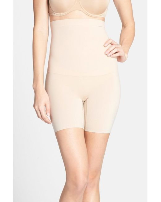 Spanx - Natural 'shape My Day' High Waist Mid Thigh Shaper - Lyst