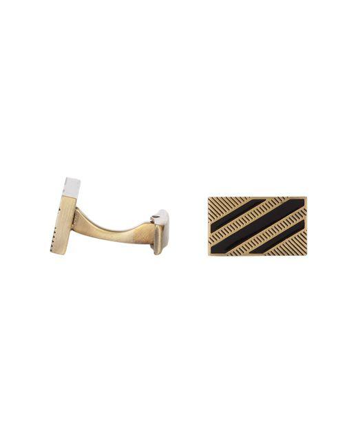 Hart Schaffner Marx - Multicolor Antique Finish Black Enamel Stripe Cuff Links for Men - Lyst