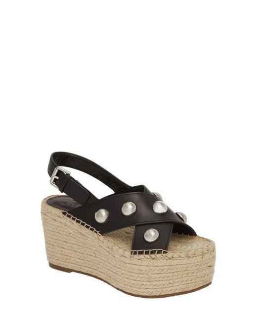 Marc Fisher - Black Rella Espadrille Platform Sandal (women) - Lyst