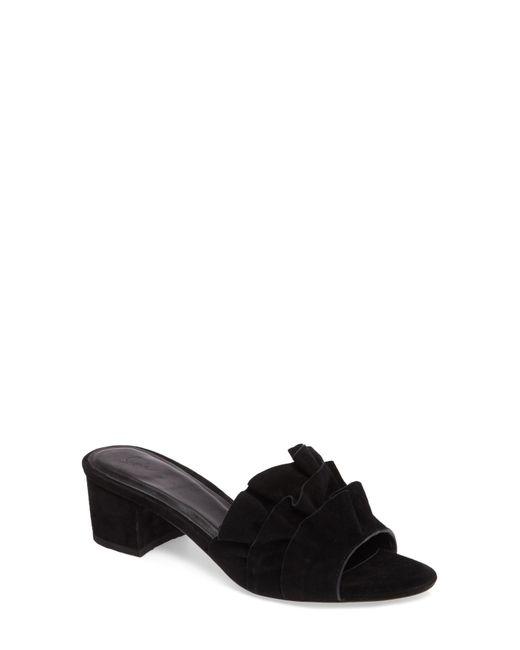 Joie - Black Mai Ruffle Slide Sandal - Lyst