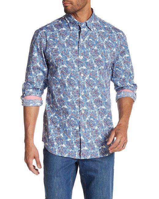 Tommy bahama graphic printed long sleeve shirt in blue for for Tommy bahama long sleeve dress shirts