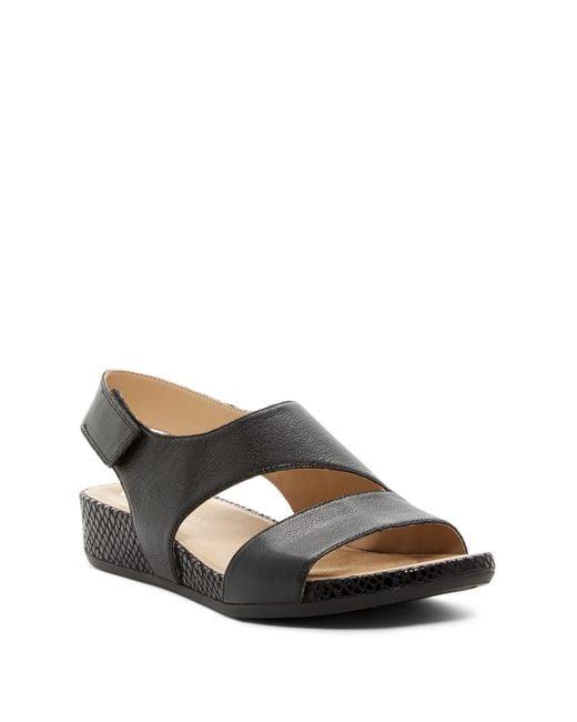Naturalizer | Black Yessica Snake Embossed Wedge Sandal - Multople Widths Available | Lyst